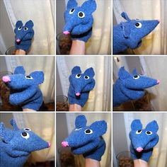 felted sweater mouse puppet