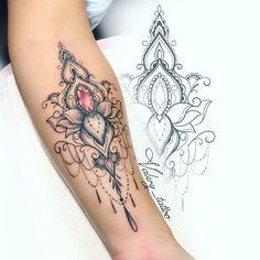 Tatoo tatoo e tourism summit - Tourism Forearm Flower Tattoo, Forearm Tattoos, Flower Tattoos, Body Art Tattoos, Small Tattoos, Sleeve Tattoos, Cool Tattoos, Jewel Tattoo, Lace Tattoo