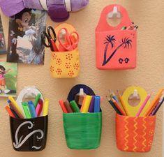 Pencil Organizer diy storage crafts diy crafts do it yourself diy projects organization Plastic Bottle Crafts, Recycle Plastic Bottles, Diy Organization, Diy Storage, Plastik Recycling, Recycled Crafts, Diy Crafts, Pencil Organizer, Shampoo Bottles