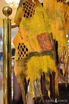 "Nuno felted scarf ""Inca gold"" by Sana Art, via Flickr"