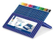 ergosoft aquarell triangular watercolour pencil, set of 24 picture