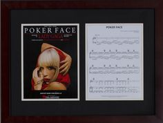 Silent Auction Item Lady Gaga autographed sheet music #fundraising #auction https://www.cfr1.org/fundraising-items/