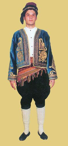 Traditional festive costume from the province of Isparta. Model: 1925-1950. This is a recent workshop-made copy, as worn by folk dance groups.