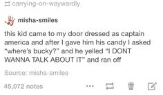 Too real. I should have done this when the tiny Captain Americas came knocking on our door for candy