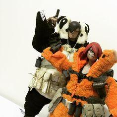"3ALegion feature: Adventure Kartel | Panda Merc One: Handsome Wu and 10"" Red Panda Merc Little Shadow v2, photographed by collectathingy (http://instagram.com/collectathingy).              #threeA #AshleyWood #AshleyWoodArt #WorldOf3A #WO3A #AdventureKartel #3ALegion"