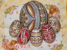 Lovely works by Oua Incondeiate Marcela -Pysanky Japan