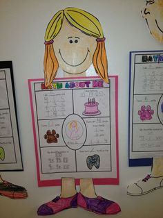 Math About Me craftivity - super cute for back to school and hang up for open house could adapt this and use it for Meet the Teacher night, then again with changes for Open House during education week.