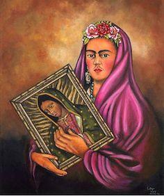 Frida Kahlo Guadalupe Virgin Print by DavidFloresArte on Etsy, $50.00