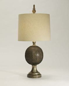 Bayard Table Lamp Western Lamps - Rich texture in wood and metal with decorative finial. From one of our superior quality collections and made in the USA.