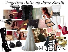 """Angelina Jolie as Jane Smith"" by enjoyjessica on Polyvore"