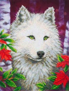Rhinestone Painting Kit, WHITE WOLF, Diamond Dotz Diamond Embroidery,  – SmartPartsCrafts