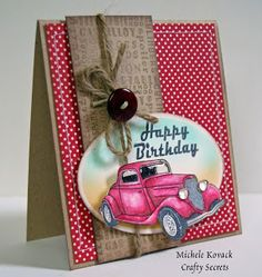 crafty secrets car classic | really like the way our Car Classics Clear Art Stamp Set turned out!
