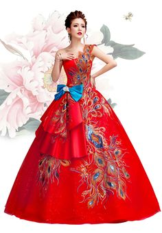 chinese wedding dress for women is usually a one piece dress ...