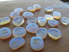Opalite Stone Rune Set