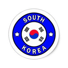 Shop South Korea sticker created by KellyMagovern. Korea Logo, Rainbow Row Charleston, South Korea Flag, Korean Martial Arts, Political Events, National Flag, Bmw Logo, Taekwondo, Round Stickers