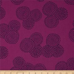 Michael Miller Stitch Circle Jewel from @fabricdotcom  Designed for Michael Miller Fabrics, this fabric is perfect for quilting, apparel and home décor accents.  Colors include navy on violet background.