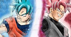 Goku Black Ssj, Goku Pics, Son Goku, Dragon Ball Z, Anime Art, Deviantart, Random, Rose, Dragons