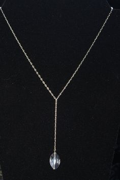 Clear silver necklace