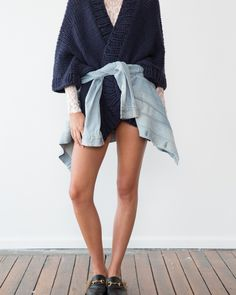 Oversized Kimono in navy - I Love Mr Mittens