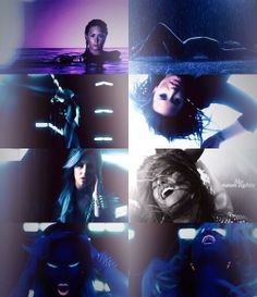 The neon lights music video is so perfect!