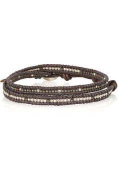 Chan Luu - Beaded and leather wrap bracelet