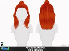 ADE DURHAM HAIR KIDS AND TODDLERS VERSION at REDHEADSIMS – Coupure Electrique • Sims 4 Updates