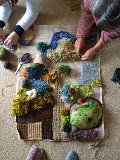 Cobbled Together by Brenna: The Knitted Farmyard, a labour of love
