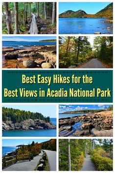 Check out this guide to the best easy hikes in Acadia National Park in Maine. These easy hikes offer gorgeous views with minimal effort. Family-friendly and accessible hikes included! Acadia National Park Hiking, Arcadia National Park, Us National Parks, Maine Road Trip, East Coast Road Trip, Visit Maine, New England Travel, Day Trips, Travel Usa