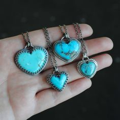 Kingman Turquoise Heart Necklace Sterling by SongYeeDesigns turquoise jewelry Kingman Turquoise Heart Necklace - Sterling Silver Turquoise Heart Jewelry Ruby Jewelry, Heart Jewelry, Boho Jewelry, Jewelry Shop, Luxury Jewelry, Gold Jewellery, Turquoise Heart Necklace, Turquoise Jewelry, Kingman Turquoise