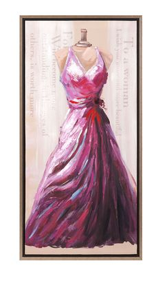 The Dress Oil On Canvas With Frame