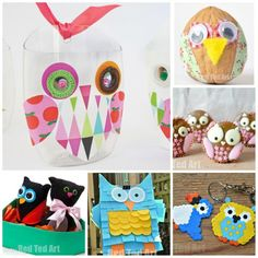 Cute and Easy Owl Crafts for Kids - what a HOOT! The best Owl Crafts and Owl DIYs to make this Autumn and Fall! Scary Halloween Crafts, Halloween Activities, Craft Activities For Kids, Preschool Crafts, Craft Ideas, Animal Crafts For Kids, Crafts For Kids To Make, Art For Kids, Owl Crafts