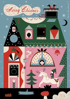 Christmas card by Sarah Andreacchio ! Download and Print it for 2$ only !!! https://www.etsy.com/listing/482880078/printable-christmas-card-instant