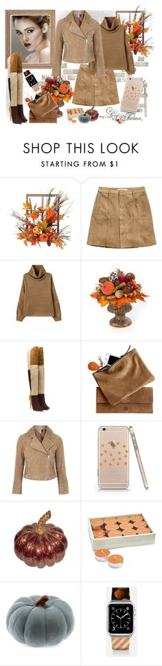 """""""Pumkin Pattern Slim Iphone"""" by tasha1973 ❤ liked on Polyvore featuring Harvest, H&M, MacKenzie-Childs, Topshop, Sur La Table and Casetify"""