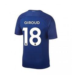 Chelsea Olivier Giroud 18 Hemmatröja 17-18 Kortärmad Stamford, Chelsea Fc, Premier League, Sports, Tops, Fashion, Moda, La Mode, Sport
