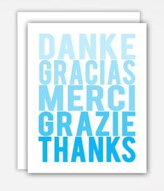 Thanks Around the World Thank You Card by theSimplePerks on Etsy, $21.95
