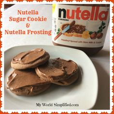 Nutella Sugar Cookies with Nutella Frosting