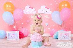 Smash the cake da Bia no tema Chuva de amor! Sunshine Birthday Parties, 1st Birthday Parties, Barbie Theme Party, Cloud Party, Bday Girl, Rainbow Birthday, 1st Birthdays, Cake Smash, Baby Shower Parties