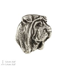 Shar Pei head dog pin limited edition ArtDog by ArtDogshopcenter