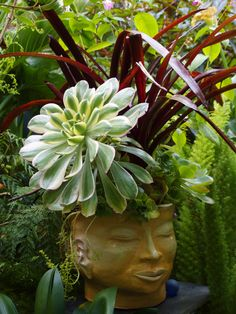 decorative head planter