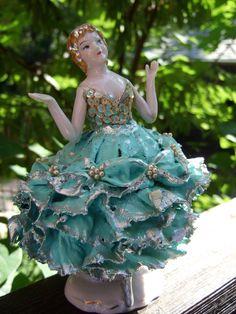 Vintage 1950s Porcelain Ballerina Figurine