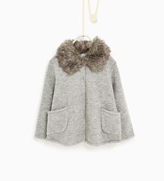 Jacket with a fur-lined collar from Zara