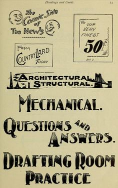 Headings & Cards | Chapter on lettering (1906), Browning Press, Collinwood, Ohio