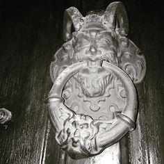 #neworleans #frenchquarter #Louisiana #doorknocker #devil by kittenonthekeys
