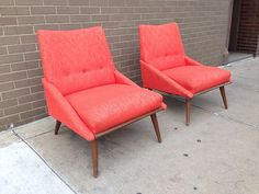 This color!! Danish Modern Lounge Chairs Kroehler MID Century Retro VTG | eBay
