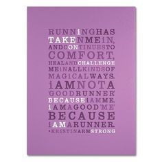 """Trademark Fine Art """"Strong Runner Iii"""" Canvas Wall Art, Purple My Canvas, Artist Canvas, Canvas Size, Canvas Wall Art, Canvas Prints, Important Quotes, Typography Inspiration, Inspirational Message, Typography Poster"""
