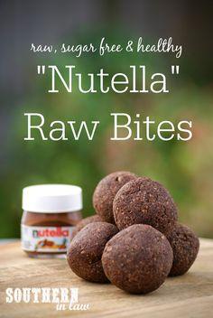 Nutella Raw Bites - Gluten Free, Sugar Free, Freezer Friendly, Clean Eating Friendly, Raw, Vegan