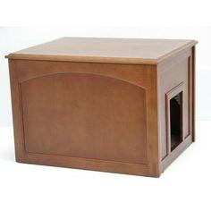 2-in-1 Cat Litter Box Cabinet