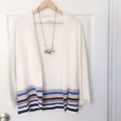 Patterned cardigan Very pretty. Wore once Talbots Sweaters Cardigans