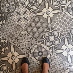 Found my dream floor at a bakery in Rome. #dspattern #tile #tileaddiction by perchfurniture