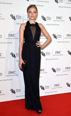 Pin for Later: That's a Wrap! See All the Stars Who Ditched Hollywood For the London Film Festival Clara Paget Clara opted for a figure-hugging dress on the red carpet of the IWC Gala Dinner.